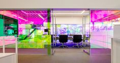 Canvas Worldwide headquarters, Silicon Beach, green headquarters, dichroic glass, Canvas Worldwide, Architecture Plus Information, natural light, flexible spaces, meeting spaces, green architecture, green interior
