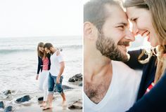 Santa Monica Engagement Session by Squaresville Studios  Seriously those smiles and laughter!! Amazing