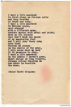 Typewriter Series #741byTyler Knott Gregson
