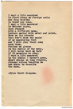 Typewriter Series #741 by Tyler Knott Gregson