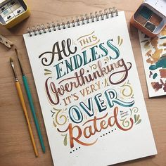 Hand Lettering Art, Brush Lettering Quotes, Hand Lettering Styles, Creative Lettering, Lettering Design, Lettering Ideas, Watercolor Hand Lettering, Doodle Lettering, Calligraphy Quotes Doodles