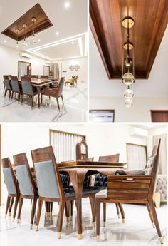 Luxurious Penthouse Interior design is a showcase of the bond between the traditional and the modern minimalistic lifestyle - The Architects Diary - Dining Room Decor - Dining Room Ceiling, Modern Room, Room Design, Elegant Interior Design, Dining Room Decor Modern, Bedroom False Ceiling Design, Dining Room Decor, Interior Design, Ceiling Design Living Room