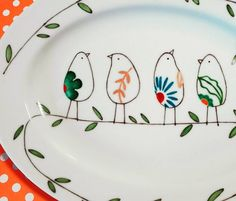 Ceramic Painting, Plates, Dishes, Tableware, Bowls, Crafts, Diy, Painted Plates, Fabrics