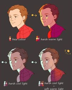 Drawing Tips - for your last spiderman drawing, i was wondering how you got that beautiful lighting? it looks so warm and soft, i adore it! just, do you have any tips to achieve that Look? Drawing Techniques, Drawing Tips, Drawing Tutorials, Art Tutorials, Drawing Poses, Digital Painting Tutorials, Digital Art Tutorial, Digital Paintings, Art Reference Poses
