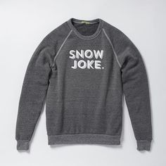 Fun winter duds. Stay warm with this fleece-lined, pullover sweatshirt featuring a playful, winter-inspired message.