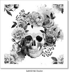 Skull - Paper Print - Art Print from FreeArt.com