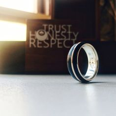 African blackwood and rose gold wedding band with a sterling silver inner. Wedding Bands, Gold Wedding, Behind The Scenes, Rings For Men, African, Rose Gold, Stuff To Buy, Gifts, Jewelry