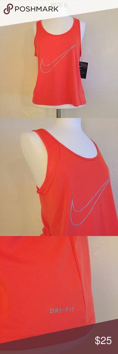 Nike Dry-fit Tank 💪🏼✔️ + NWT Nike dry-fit tank!  + Honeycomb fabric detailing 😍 + Don't forget to bundle 🛍 ⭐️All items are steamed cleaned and shipped within 48 hours of your purchase. ⭐️If you would like any additional photos or have any questions please let me know. ⭐️Sorry, no trades. But will listen to ALL fair offers. Thanks for shopping! Nike Tops Tank Tops