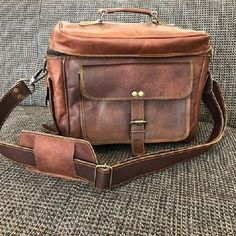 e8d26565b2a71 Reiße Kameratasche Fototasche Tipsy XL Vintage camera bag DSLR Braun Retro  Leder