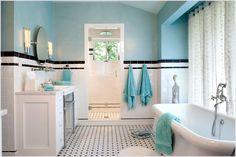 Black and White Tile Bathroom Design Ideas   Home Furniture