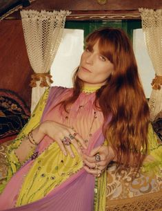 gucci campaign Gucci Captures Florence Welchs Bohemian Spirit For Latest Jewellery Campaign Florence And The Machine, Florence The Machines, Gucci Jewelry, Latest Jewellery, Boho Chic, Bohemian, Stevie Nicks, Fleetwood Mac, Florence Welch Style