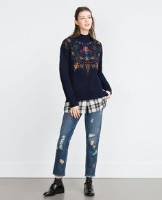 Image 2 of PATCH JEANS from Zara