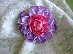 A larger, statement maker. Lavender 'n Pink Chrysanthemum Hair Clip by BeadLovinCreations