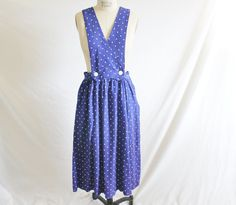 Vintage 80's does 40's Blue Rayon White by perniejaynevintage, $40.00