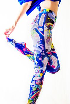 These special tights are made in Japan to superior standards and feature the art of avant-garde illustrator and TOM Special Creator Hiroyuki Takahashi! Art that crushes societal norms, demands attention, and inspires is now wearable. This particular piece has hints of everything from traditional Japanese to futuristic cyberpunk culture. Make a bold statement with these tights that look stunning un... #jfashion #kawaii