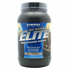 Dymatize Nutrition Elite Natural, Whey Protein Isolate, Rich Chocolate, 2.06-Pounds by Dymatize Nutrition. $32.81. It contains whey isolate.. With advanced digestive enzyme matrix.. Delicious Natural Protein the Way Nature Intended.. Now with advanced digestive enzyme matrix. All Natural. Dietary supplement. Award winning Taste, Low Carb Solution, Instant Mixability. No artificial flavors, sweeteners or colors. Dymatize's delicious and exclusive All Natural Elite formula provid...