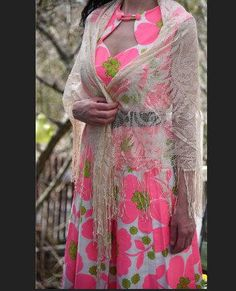 Vintage Shawl By Glentex Stevie Nicks Gypsy Magic Secrets, Stevie Nicks, Shawls, 1960s, All Things, Gypsy, Kimono Top, Cover Up, Handmade