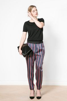 Be A Sellout: 20 Fall Buys To Watch Out For #refinery29  http://www.refinery29.com/shopping-list#slide20  Ditch your basic black or grey trousers in favor of an eye-popping style with exaggerated pinstripes.