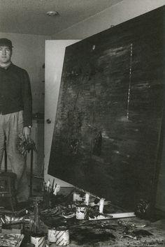 David Lynch in his studio, 1991