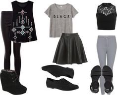 """""""Outfit Options for a Rock Concert"""" by kathryn-xo ❤ liked on Polyvore"""