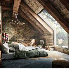 teto e janela cama segundo andar quarto