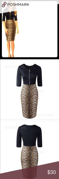 Leopard print dress Black and leopard print dress perfect for business wear. Sexy and professional . Dresses