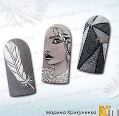 Choose from an Amazing Array of Nail Art Design Beautiful Nail Designs, Beautiful Nail Art, Feather Nails, Vintage Nails, Nails 2017, Japanese Nail Art, Latest Nail Art, Oval Nails, Nail Art Diy