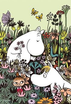 Loving soul wild at heart 🌷💚💘 moomin Moomin Wallpaper, Moomin Shop, Moomin Valley, Tove Jansson, Cute Cartoon Wallpapers, Cute Icons, Little My, Children's Book Illustration, Looks Cool