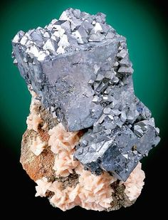 Galena with Dolomite    Barr Mine  Tri-State District  Picher Field, Treece  Cherokee County, Kansas  United States of America    12.5 x 9.0 x 7.8 cm overall