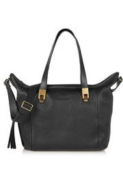 Andrea textured-leather tote