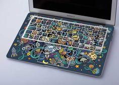 Mac Space Laptop 13 inch Skin 13 inch MacBook Decal Space Mac Sticker 2016 MacBook Pro Skin Cute MacBook 12 Wooden Air 13 MacBook Pro - Best of Wallpapers for Andriod and ios Calcomanía Macbook, Macbook Pro Skin, Macbook Desktop, Laptop Skin, Macbook Keyboard Decal, Mac Stickers, Keyboard Stickers, Keyboard Cover, Macbook Decal Stickers
