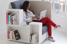 The OpenBook chair created by design studio TILT features multiple shelves for showcasing books... http://www.psfk.com/2013/06/bookshelf-chair.html