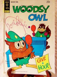 Comic Book, Woodsy Owl 1973 Gold Key #90289-402 Vintage