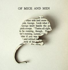 Text from Classic Books Recycled Into Charming Brooches - My Modern Metropolis