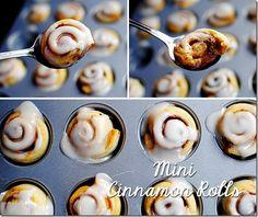 MiniCinnamonRolls & 3 more roll recipies