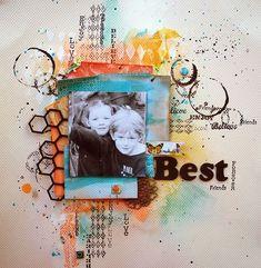 "Best Friends Forever by Fiona Paltridge ""Pastiche Scrapbook Studio"""