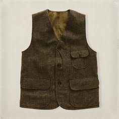 RRL Reversible Herringbone vest