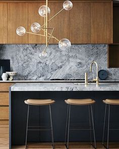 """This kitchen is what my kitchen dreams are made of. And that light is certainly helping. …"""