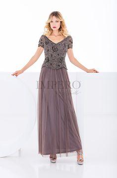SLD 11722  #abiti #dress #wedding #matrimonio #cerimonia #party #event #damigelle #beige