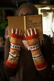 KNITSONIK Fingerless Mitts by Felicity Ford