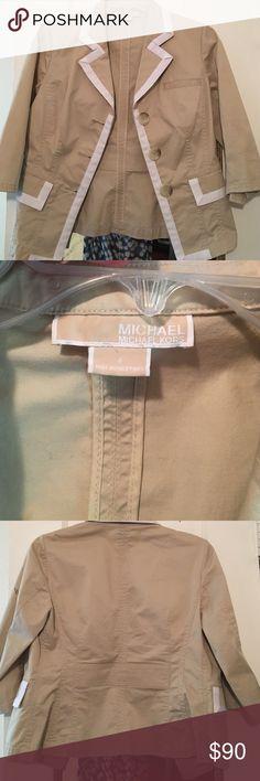 Michael Kors khaki blazer size 4 NWOT tags. Never worn. Needs a new home! Michael Kors Jackets & Coats