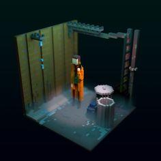 Blade Runner Voxel, Gabriel de Laubier on ArtStation at https://www.artstation.com/artwork/G1WxN