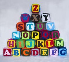 Felt ZOO alphabet, 26 alphabet cubes, felt blocks, zoo alphabet, letters, numbers, figures, shapes, abc, 123