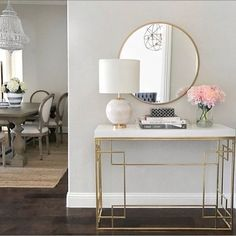 Apartment Entryway Decor Entrance Consoles New Ideas White Console Table, Modern Console Tables, Console Table Decor, Entryway Console Table, Gold Table, Gold Furniture, Luxury Furniture, Furniture Hardware, Antique Furniture