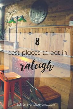 Where to eat in Raleigh is never a big question because everything is so delicious. But these 8 places top off my list! Living In North Carolina, Raleigh North Carolina, South Carolina, Chapel Hill North Carolina, Moving To North Carolina, Carolina Blue, Best Places To Eat, Oh The Places You'll Go, Nova Scotia