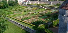 Potager du château de Barbirey (Bourgogne)