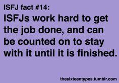 ISFJ fact #14