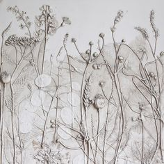 * Rachel Deinis a super creative artist based in the UK. Her method of plaster casting captures everyday objects in a unique and delicate way. She makes impressions in wet clay, and then pours pla…