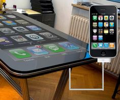 58 inch iTable. Connect your iPhone and use your table to control it. Too bad it never went into production. Follow link for video.