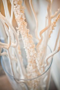 white center piece - panted branches